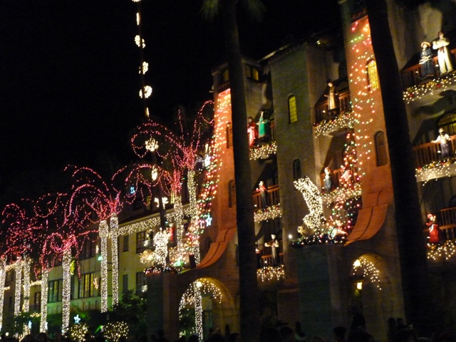 Mission Inn Christmas Lights 2010, Riverside, CA | Pedroza Place